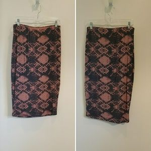 NWT O'Neill jersey knit midi pencil skirt